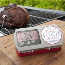 Dual Temp Grill & Meat Digital Thermometer W/ Built-In Alarm