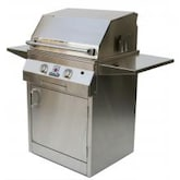 Solaire 27 Inch Deluxe All Infrared Freestanding Natural Gas Grill On Standard Cart - SOL-IRBQ-27GIRXLC-NG