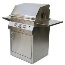 Solaire 27 Inch Deluxe All Infrared Freestanding Natural Gas Grill On Standard Cart - SOL-IRBQ-27GIRXLC-NG Solaire Gas Grills 27 Inch Deluxe All Infrared Natural Gas Grill On Square Cart Base