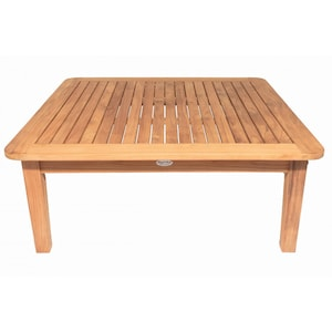 Miami 42 Inch Square Teak Patio Coffee Table By Royal Teak Collection image
