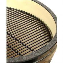 Primo Ceramic Kamado Charcoal Smoker Grill - Large Round Primo Large Round Ceramic Kamado Charcoal Smoker Grill - Porcelain Coated Cooking Grate