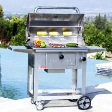 Bull Bison 30-Inch Freestanding Charcoal Grill - 67531 Bull Bison 30-Inch Freestanding Charcoal Grill - Grilling by the Pool