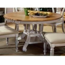 Hillsdale Wilshire Round/oval Dining Table - Pine/antique White - 4508dtbrnd
