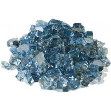 Alpine Flame 1/4-Inch Steel Blue Reflective Fire Glass - 10 Lbs