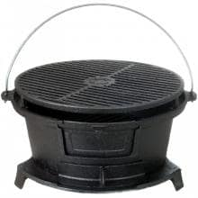 Cajun Classic Round Seasoned Cast Iron Charcoal Hibachi Grill - GL10447 image