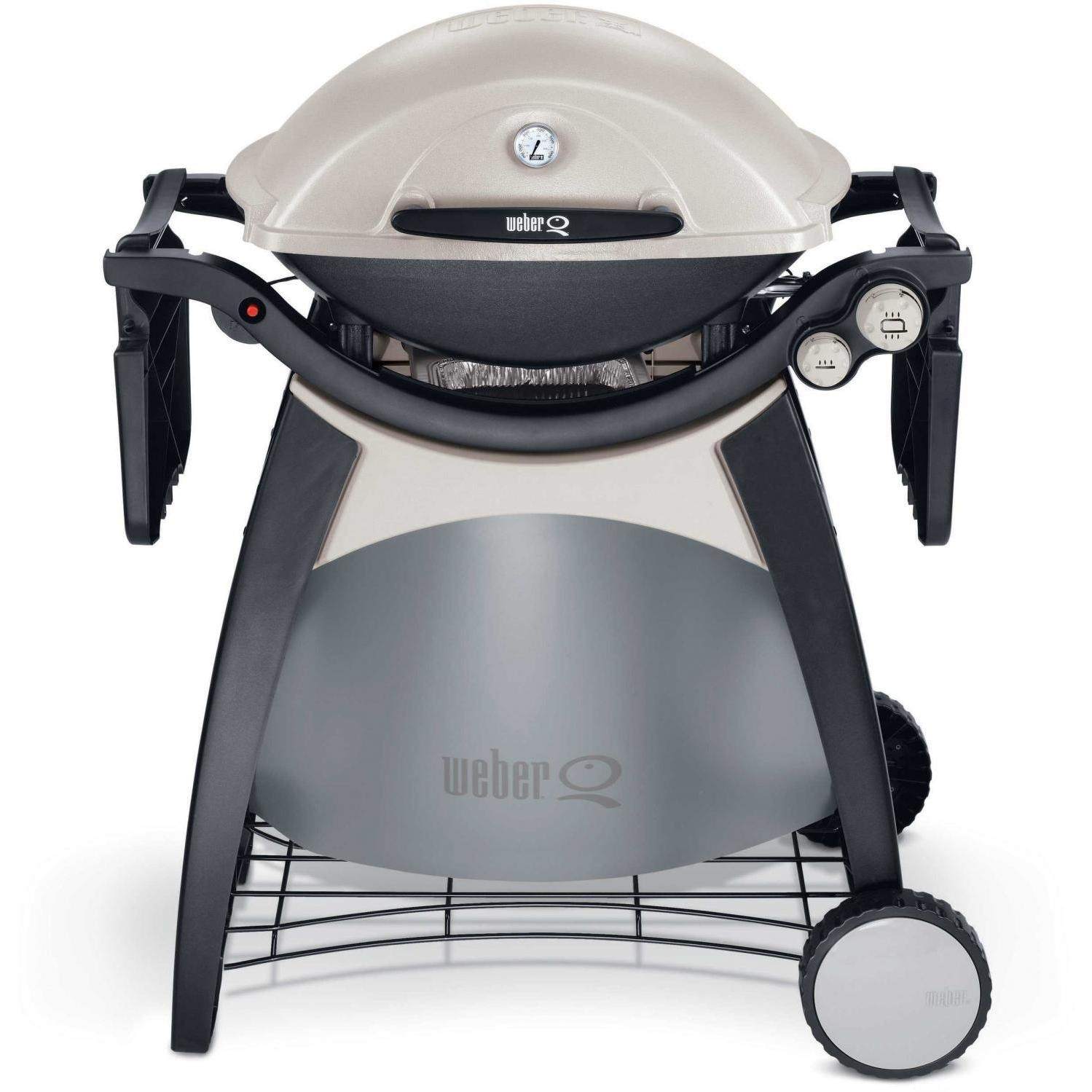 weber q 300 propane gas bbq grill on cart weber grills. Black Bedroom Furniture Sets. Home Design Ideas