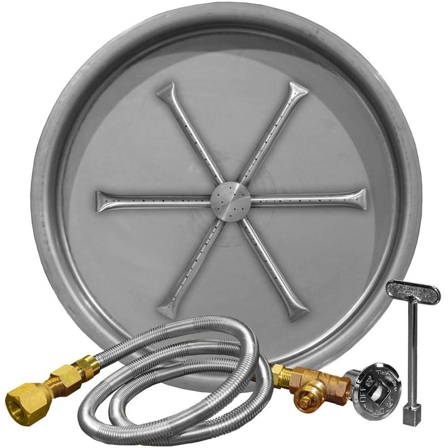 Firegear 25-Inch Round Burning Spur Natural Gas Fire Pit Burner Kit - Match  Light - Firegear 25-Inch Round Burning Spur Natural Gas Fire Pit Burner Kit