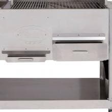 Cookshack Fast Eddys 32-Inch Freestanding/Built-In Pellet Grill - PG1000 Cookshack Fast Eddy's 32-Inch Pellet Grill - Ash & Warming Drawers