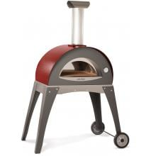 Alfa Forno Ciao Wood Burning Pizza Oven On Cart - Red Alfa Forno Ciao Wood Burning Pizza Oven On Cart - Red