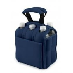 Picnic Time Six Pack Insulated Beverage Tote - Navy image
