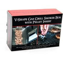6-Inch Stainless V-Smoker Box With Pellet Tube Charcoal Companion Short Smoker Box - Package