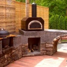 Chicago Brick Oven CBO-750 Countertop Outdoor Wood Fired Pizza Oven - Copper image