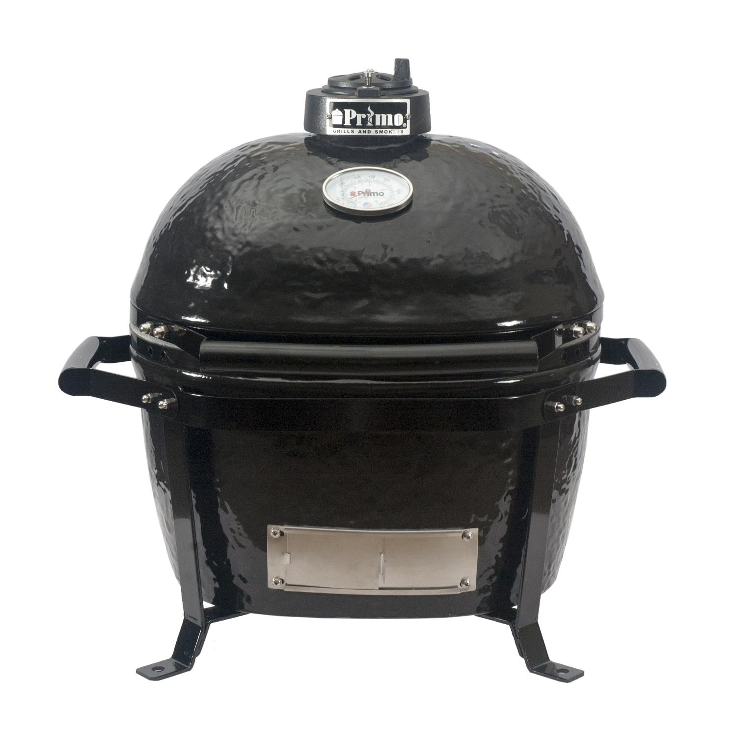 primo oval junior ceramic charcoal smoker grill on go portable carrier bbq guys. Black Bedroom Furniture Sets. Home Design Ideas
