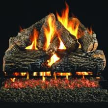 Peterson Real Fyre 18-Inch Charred Oak Gas Log Set With Vented G45 Burner