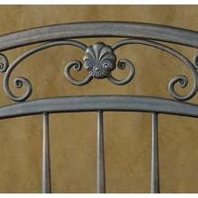 Hillsdale Chesapeake Rustic Brown Metal Post Headboard Without Frame - Queen - 1335HQ Headboard Design