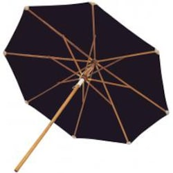 10 Ft. Octagonal Teak Patio Umbrella W/ Push Lift By Royal Teak Collection - Navy Canopy image
