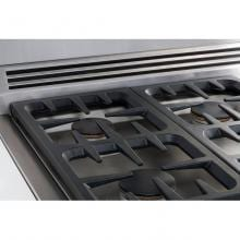 DCS 30-Inch Professional 5-Burner Dual Fuel Natural Gas Range - RDV-305-N DCS 30-Inch Professional Dual Fuel Range - Continuous Grate Cooktop Detail