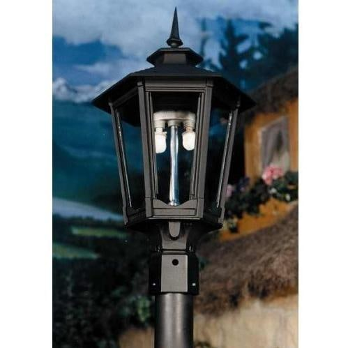 Gas Light America GL1600 Cast Aluminum Natural Gas Light With Open Flame Burner On Post Mount