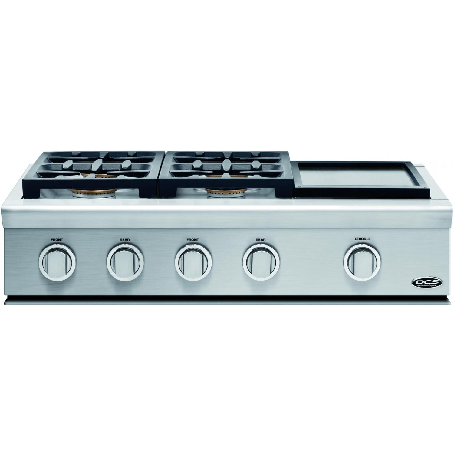DCS 36-Inch Professional 4-Burner Propane Gas Cooktop With Griddle ...