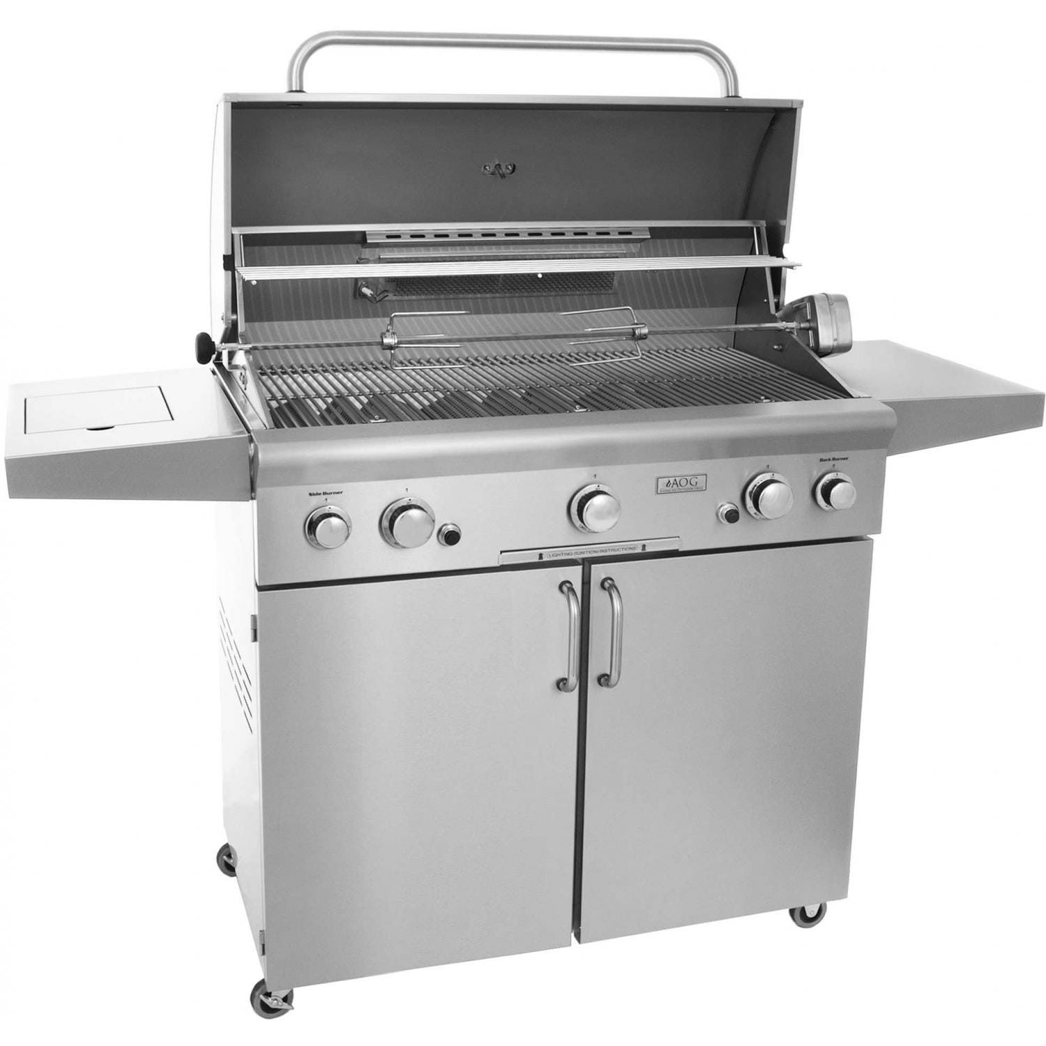 Outdoor Gas Barbecue Grills ~ American outdoor grill inch natural gas on cart w