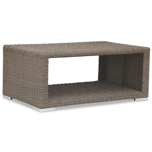 Coronado 48 X 29 Inch Rectangular Wicker Patio Coffee Table By Sunset West  image