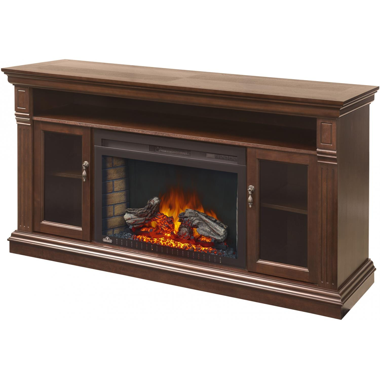 napoleon canterbury 64 inch electric fireplace media console