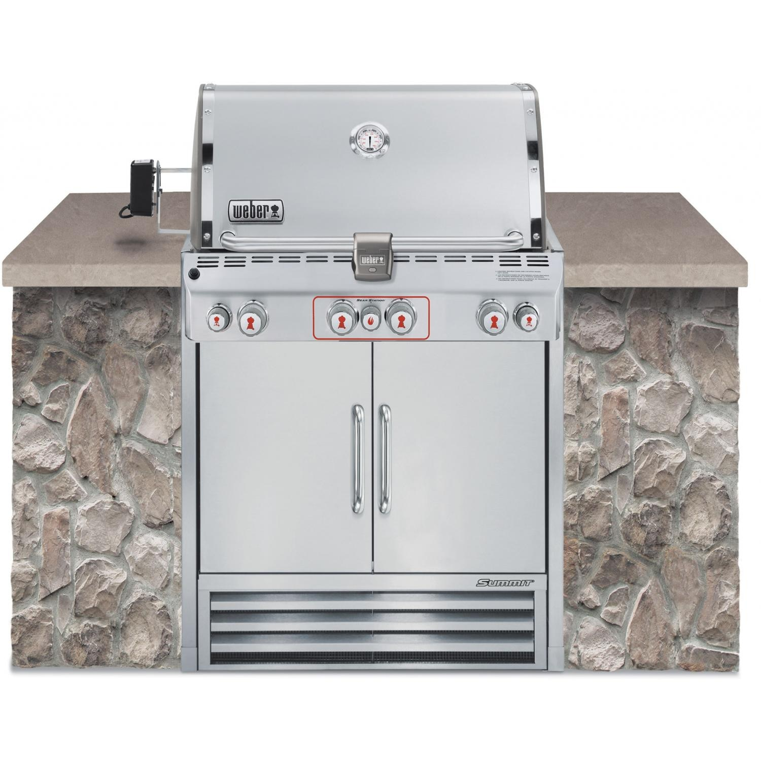 Outdoor GreatRoom company Weber Summit S-460 Built-in Gas Outdoor BBQ Grill Stainless Steel 7160001 at Sears.com