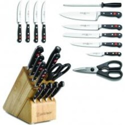 Wusthof Classic 12-Piece Knife Block Set - Natural - 8612 image