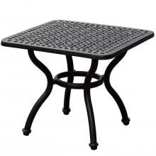 Elysian 21-Inch Square Cast Aluminum Patio End Table By Lakeview Outdoor Designs image