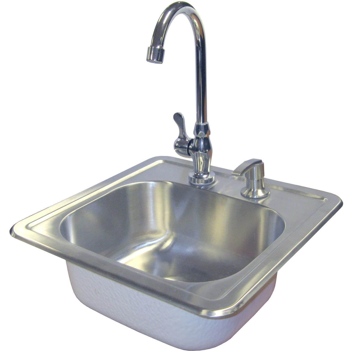 Cal Flame15 X 15 Outdoor Rated Stainless Steel Sink W Cold Water