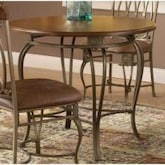 Hillsdale Montello Round Dining Table - 36 Inch - Old Steel - 41541dtb36