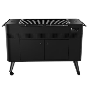 Everdure By Heston Blumenthal HUB II 54-Inch Charcoal Grill With Rotisserie & Electronic Ignition - HBCE3BUS image