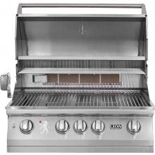 Lion L75000 32-Inch Stainless Steel Built-In Propane Gas Grill Lion 32-Inch L75000 Stainless Steel Built-In Propane Gas Grill - Lid Open