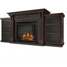Real Flame Calie 67-Inch Electric Fireplace Entertainment Center - Dark Walnut - 7720E-DW Real Flame Ashley 67-Inch Electric Fireplace Media Console - Dark Walnut