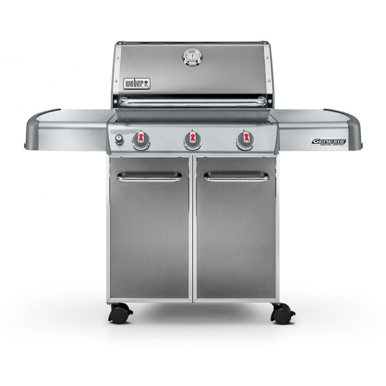 weber genesis premium ep 310 freestanding propane gas grill smoke. Black Bedroom Furniture Sets. Home Design Ideas