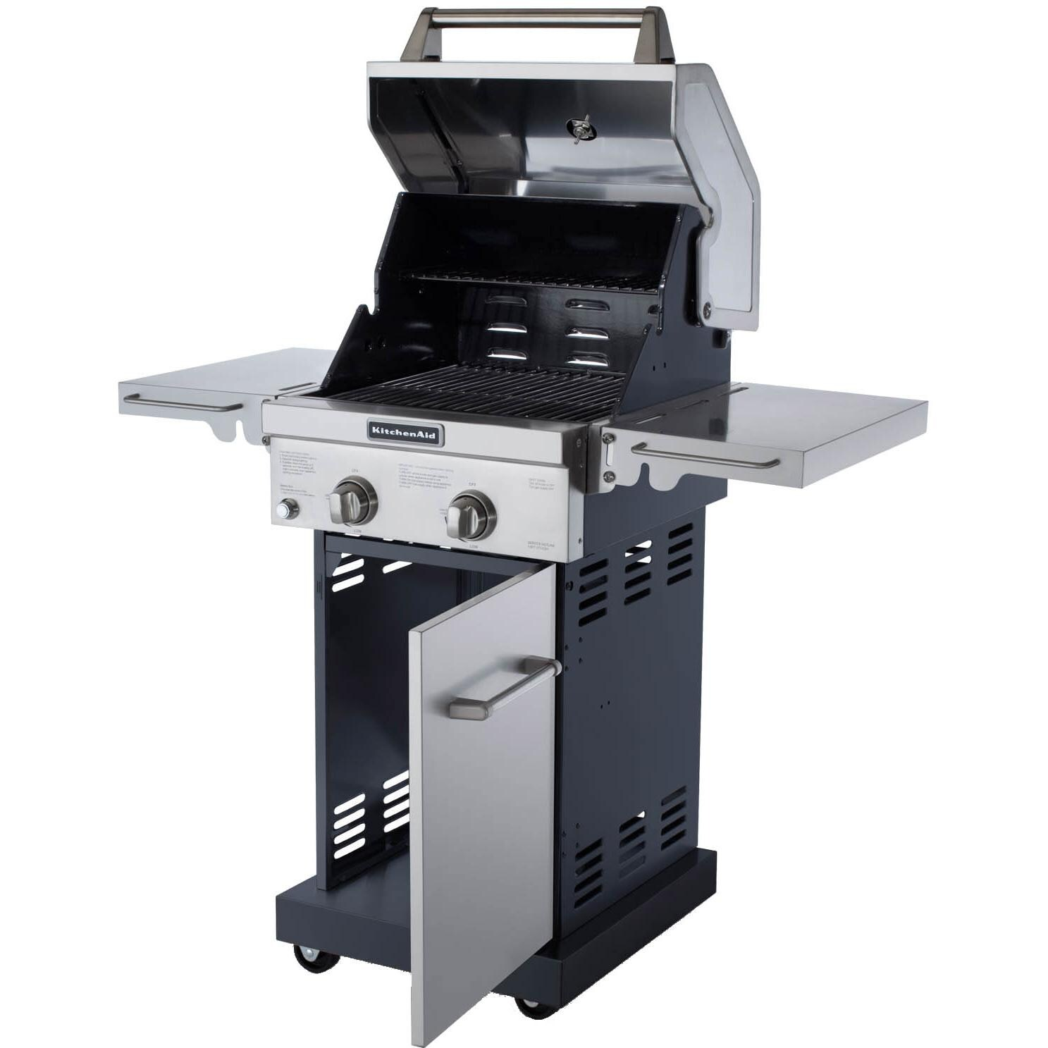 kitchenaid 20 inch propane gas grill on cart bbq guys