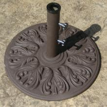 Galtech European Cast Iron 75 Lb. Umbrella Stand - Antique Bronze image