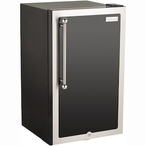 Fire Magic 20-Inch 4.0 Cu. Ft. Echelon Black Diamond Right Hinge Compact Refrigerator - Black - 3598H-DR image