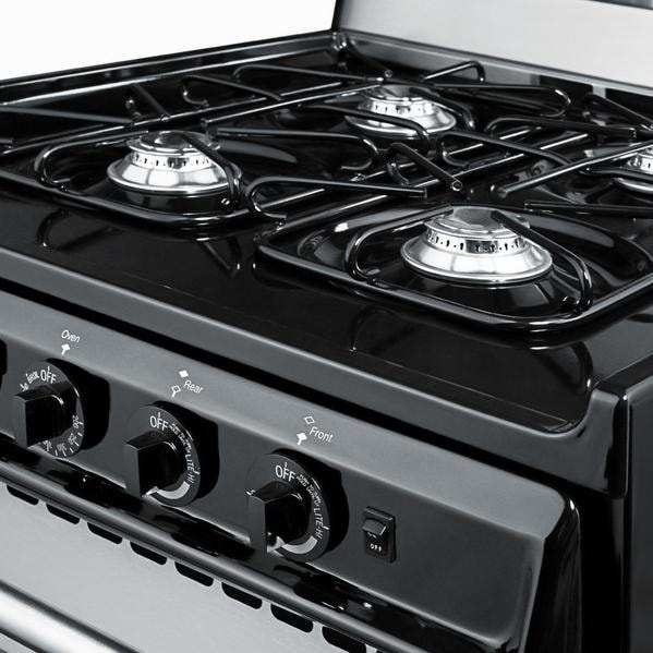 20 inch gas range stainless steel
