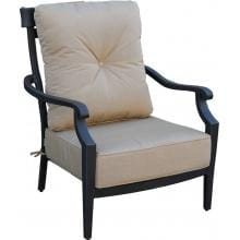 St. Charles Cast Aluminum Patio Club Chair By Lakeview