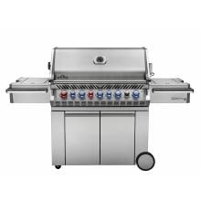 Napoleon Prestige Pro 665 Freestanding Propane Gas Grill With Infrared Rear Burner And Infrared Side Burner Napoleon Prestige Pro 665 Freestanding Propane Gas Grill With Infrared Rear Burner And Infrared Side Burner