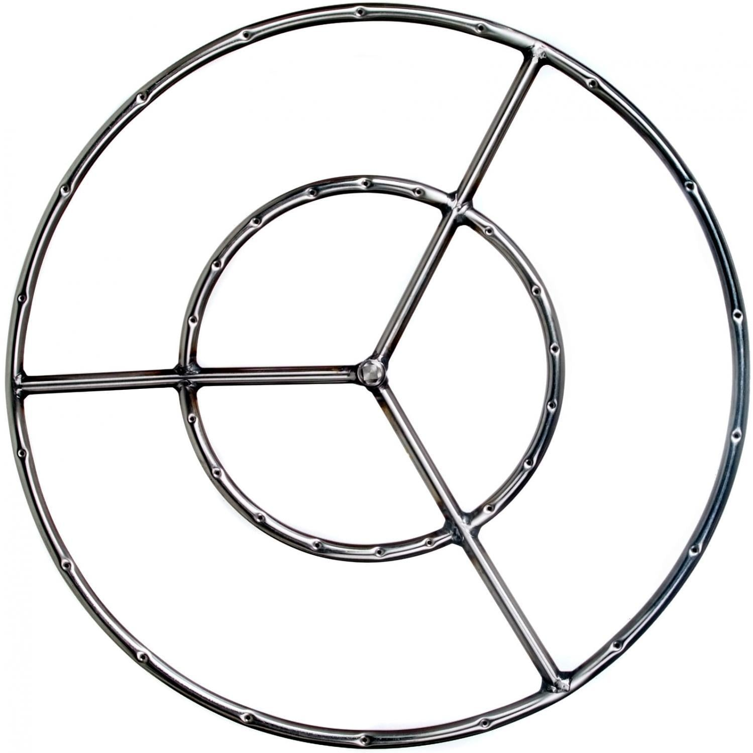 Alpine Flame 24-Inch Stainless Round Double Natural Gas Fire Pit Ring Burner