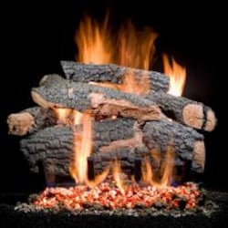 Golden Blount 24-Inch Big Tex Vented Natural Gas Log Set - Electronic On/Off Remote image