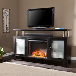 simple gas ideas design fireplace black with center entertainment