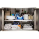 BBQGuys.com Kingston Series 30-Inch Stainless Steel Enclosed Cabinet Storage With Shelf