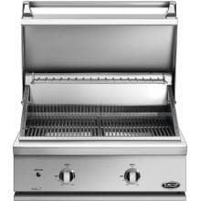 DCS Professional 30-Inch Built-In Propane Gas Grill - BGC30-BQ-L DCS 30-Inch Built-In Gas Grill - Hood Open