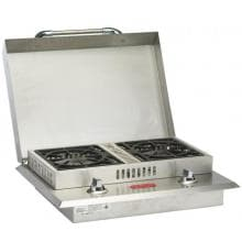 Bull Drop-In Propane Gas Double Side Burner W/ Stainless Steel Lid - 60088 image
