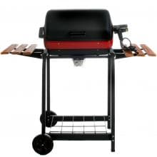 Aussie Electric Grills By Meco - 9325 Electric BBQ Grill On Cart With Fold Down Side Tables