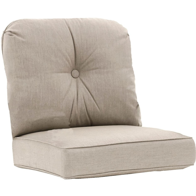 Sunbrella Cast Ash Medium Outdoor Replacement Club Chair Cushion Set W Piping By Ultimatepatio