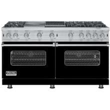 Viking VGCC560-6GQLP 60-Inch Professional Series Propane Gas Range With 6 Burners And Grill / Griddle - Black